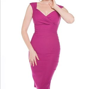 💕Sexy Hot Pink Erin wiggle dress, Pinup Couture