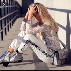 Isabel Marant pour H&M Denim - Isabel Marant pour H&M Ribbon Stripe Jeans
