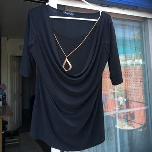 American City Wear Tops - 2 for $12**Career Blouse w/ Attached Necklace