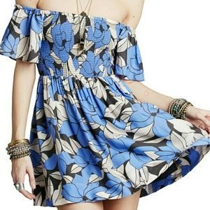 Free People Louise Off Shoulder Floral Dress XS