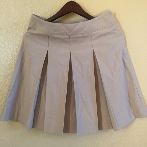 Parker Skirts Khaki School Uniform Pleated Skirt Sz 5