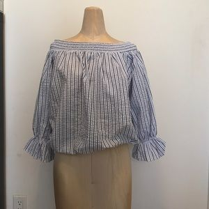 ChicWish OTS Striped Top