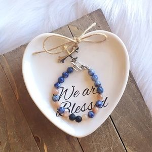 handmade Jewelry - Moonstone + Lapis Lazuli Diffuser Bracelet