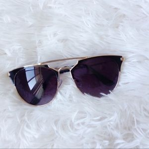 black+gold rimmed sunnies