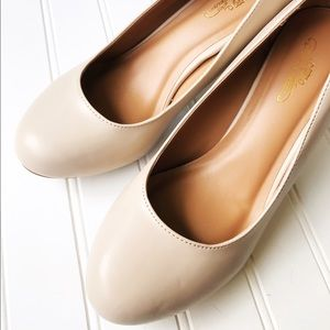 Journee Collection Shoes - Journee Collection 3 Inch Nude Pumps