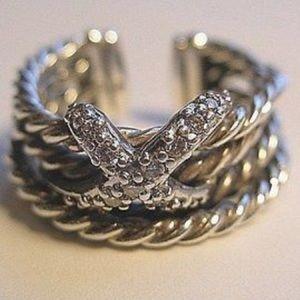 David Yurman Jewelry - ❤️ 24 HR MOTHERS DAY SALE❤️Yurman  Diamond X  Ring
