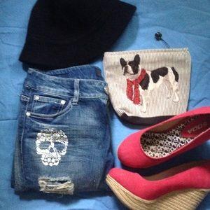 Rewash Denim - Skull skinny jeans