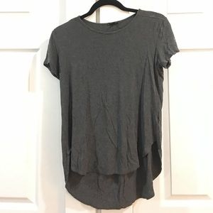 5319d72d8238 ... Theory grey high low tee shirt size small ...
