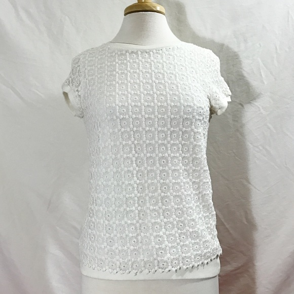 Zara Tops Basic White Lace Crochet Top Poshmark
