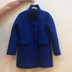 J.Crew Stadium Cloth Cocoon Coat in Cobalt Blue