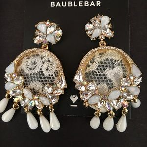 Bauble Bar Jewelry - Bauble Bar Lace & Crystal Earrings