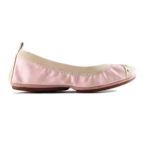Yosi Samra Shoes - New Yosi Samra powder pink biscotti fold up flats