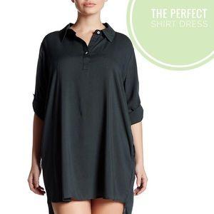 Allen Allen Dresses & Skirts - Allen Allen•Roll Tab Linen Shirt Dress