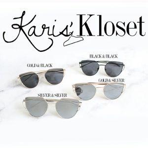 Karis' Kloset Accessories - Accessories | Black & Gold cat eye sunnies