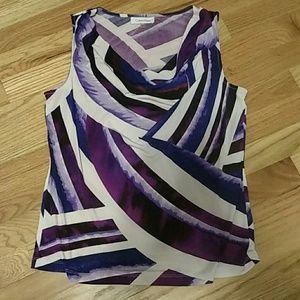 Calvin Klein purple blouse