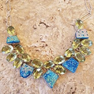 Jewelry - Peridot Druzy Necklace