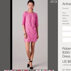 Robert Rodriguez Dresses & Skirts - Robert Rodriguez $395 pink lace dress 2