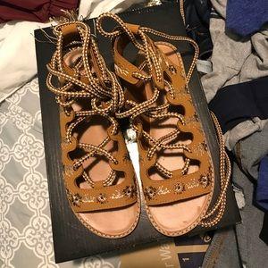 Bohemian tie up sandals
