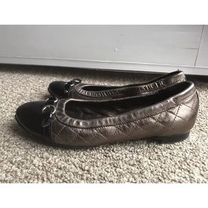 Attilio Giusti Leombruni Shoes - AGL 36.5 6.5 Buckle Quilted Leather Ballet Flats