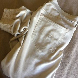 MOTHER Denim - Mother off white joggers jeans Sz 26