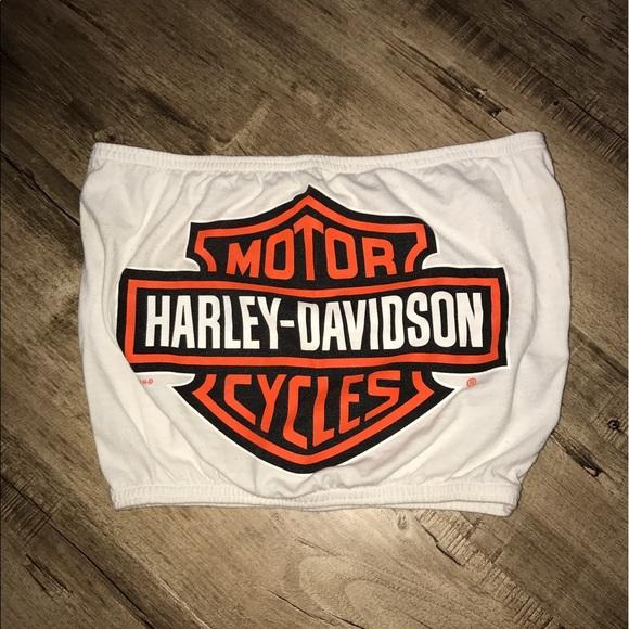 48d1f098a6 Harley-Davidson Tops - Vintage Rework Harley Davidson Tube Top