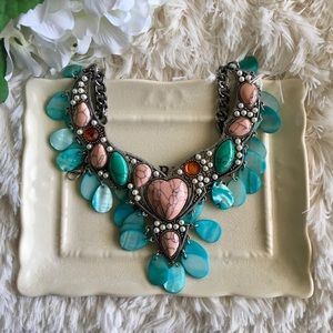 "B&B Jewelry - ""Antonia"" Turquoise Shell Statement Necklace"