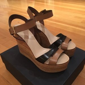 Sergio Rossi Shoes - Sergio Rossi two tone wood wedge. Size 41.