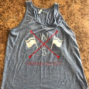 Weekend Society Other - Weekend Society American Sailor Blue Logo Tank