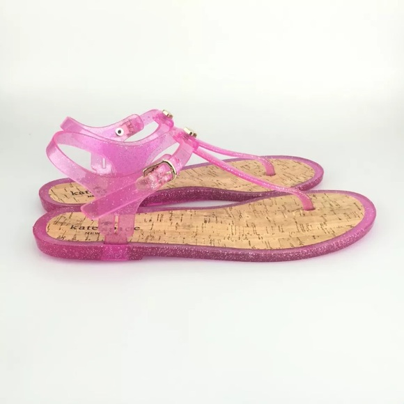 kate spade kate spade jelly sandals yari pink glitter