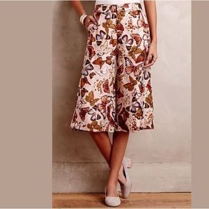 Anthropologie Pants - NEW! Anthro Mariposa Silk Culottes Elevenses Crops