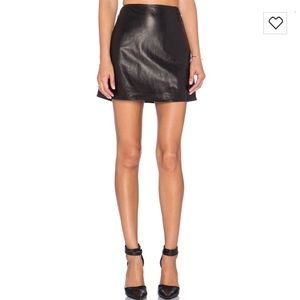 L'AGENCE Dresses & Skirts - L'Agence Jolie Leather Mini Skirt