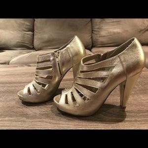 Steve Madden Shoes - Steve Madden Gold Booties