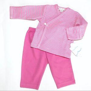 Kissy Kissy Other - Kissy Kissy Hot Pink Stripe Kimono & Pants