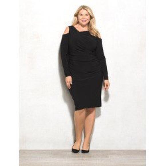 cf8a5c2884b REDUCED LOW Plus Size Cold Shoulder Dress