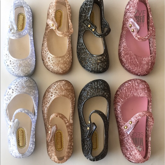 d9e427088 Kids jellies gold   black pink clear sandals