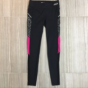 Fila Pants - Fila Running Leggings Size XS with mesh insert