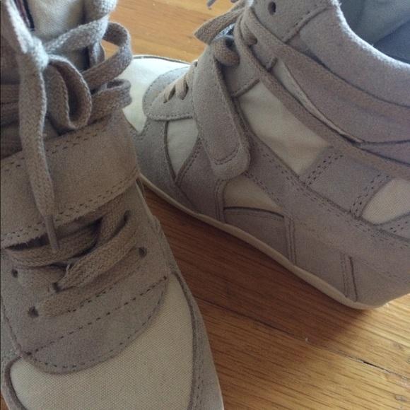 72 ash shoes ash usa wedge tennis shoe heels size