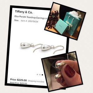 Authentic Tiffany&Co Peretti Teardrop Earrings