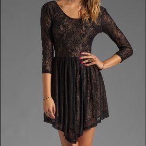 Lovers + Friends NWT Senorita Black Lace Dress