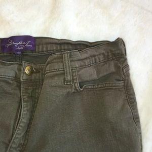 NYDJ Denim - NYDJ Military Green tummy tuck jeans