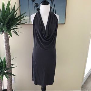 Haute Hippie Dresses & Skirts - Haute Hippie- Grey Halter Cowl Neck Backless Dress