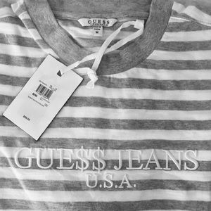 Guess Tops - ASAP ROCKY x GUESS 🔻 Short Sleeve Striped Tee