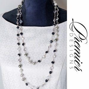 Premier Designs Jewelry - Premier Designs Opulence Long Necklace Silver