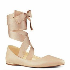 Shoes - Lace up ballet flats