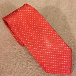 The Tie Bar Other - The Tie Bar Coral w/ White Polka Dot Tie