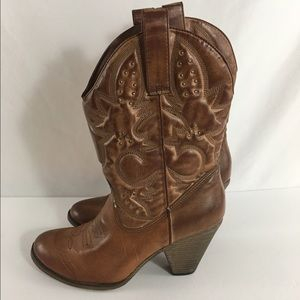 Call It Spring Shoes - Call It Spring Quilted Cowboy Boots SZ 11