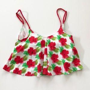 Other - Kortni Jeane Red Floral Swing Swimmer