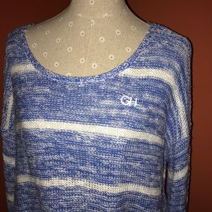 Gilly Hicks Sweaters - GILLY HICK~Stripe Cropped knit Sweater~size M