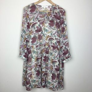 Two by Vince Camuto Dresses & Skirts - Two by Vince Camuto Long Sleeve Floral Shift Dress
