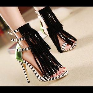 Sergio Rossi Shoes - Fringe sandals